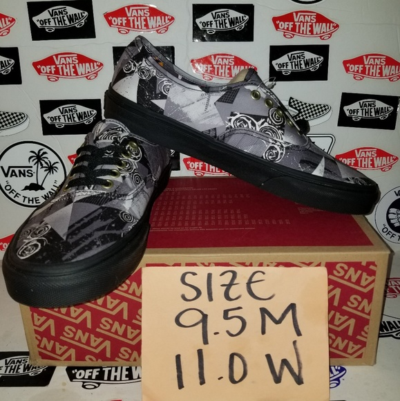 ae44ae7537 VANS AUTHENTIC ABSTRACT SIZE 9.5 MEN 11.0 WOMAN